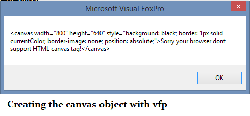 Some VFP DOM tests into HTML5 canvas class Part1 - Visual