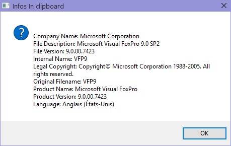 Windows version bug on win8 1+win10 - Visual Foxpro codes