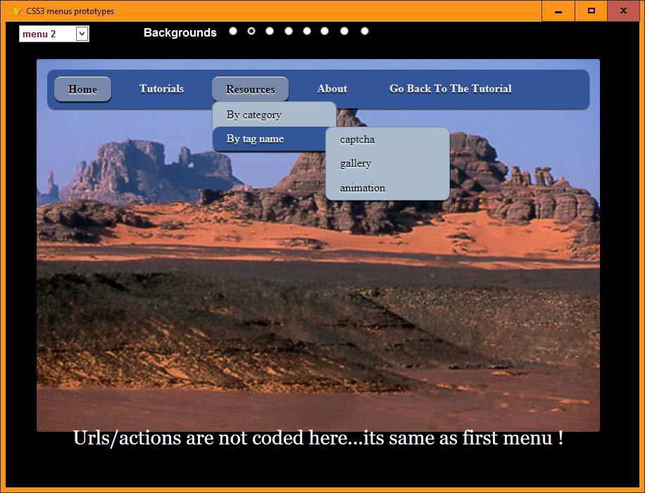 CSS3 menus working from vfp - Visual Foxpro codes