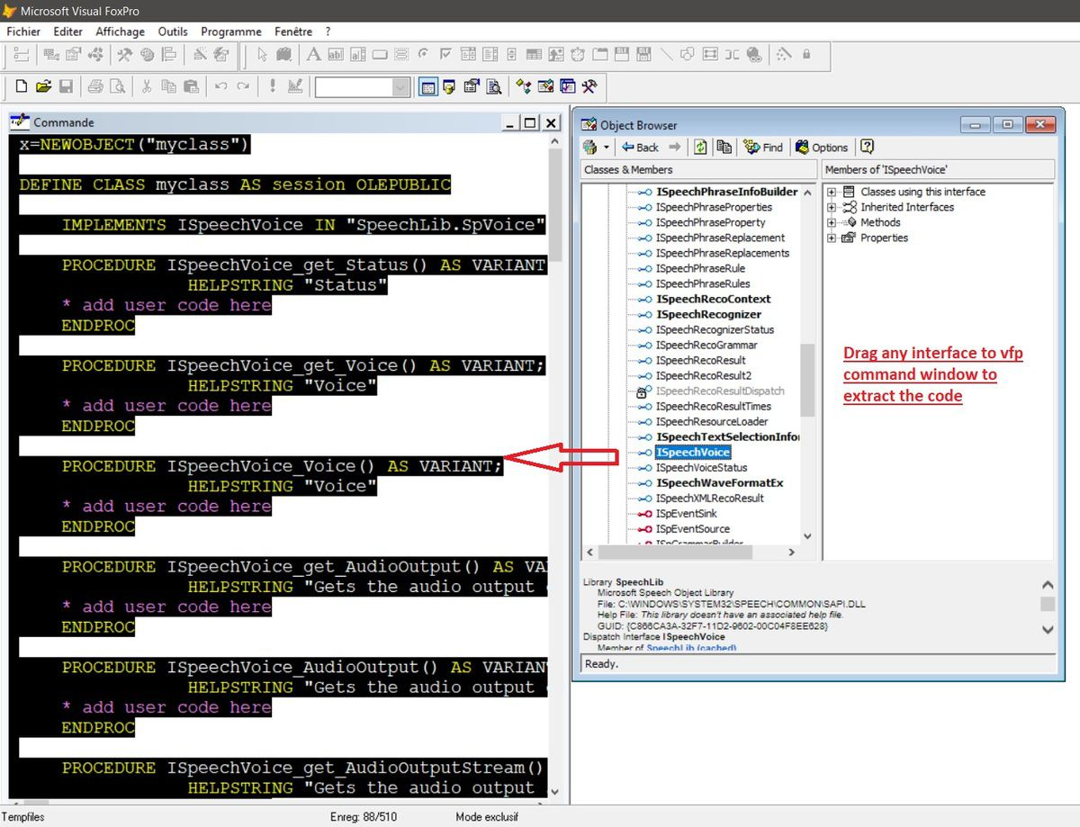 Working with Text to Speech (TTS) - Visual Foxpro codes