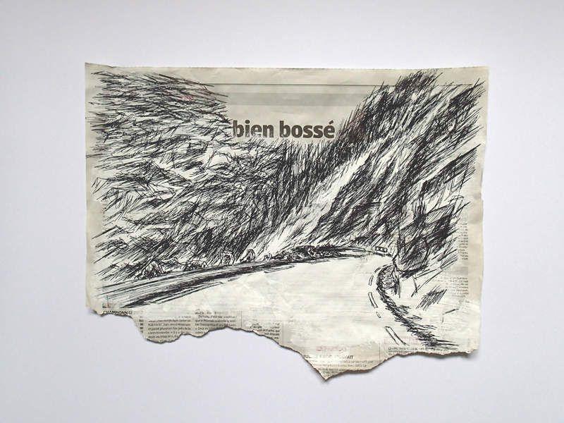 Trollstigen, 19.05.14, 18h01, 38 x 30 cm, 2015, collection particulière