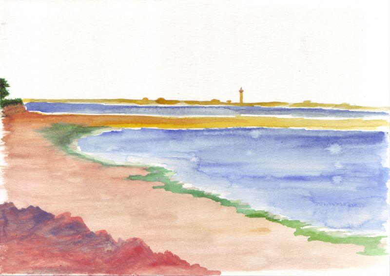 île de Bréhat, 9.06.12, aquarelle, 24 x 16 cm