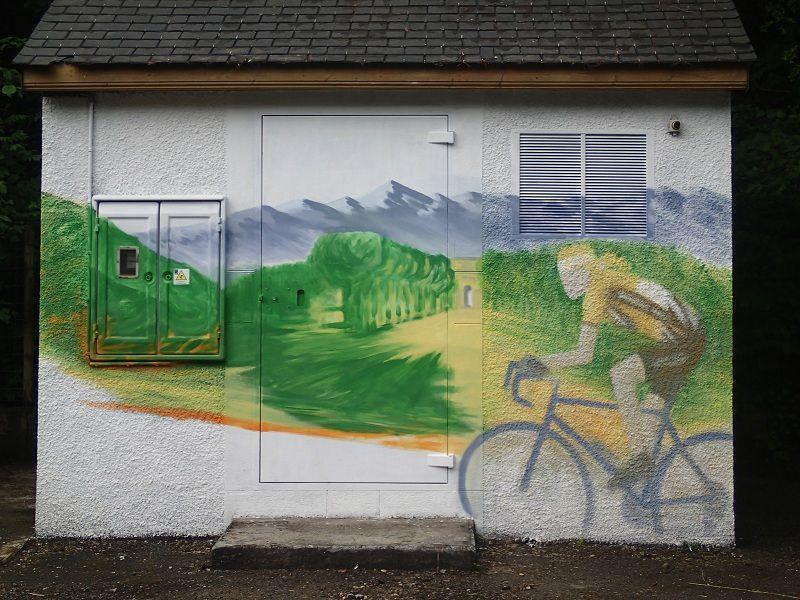 fresque sur la route des cols