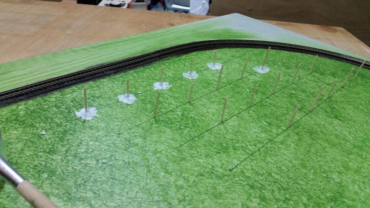 Le diorama est constitué d'un tronçon linéaire de 2,5 ml et d'une boucle de retour de 1ml .A suivre