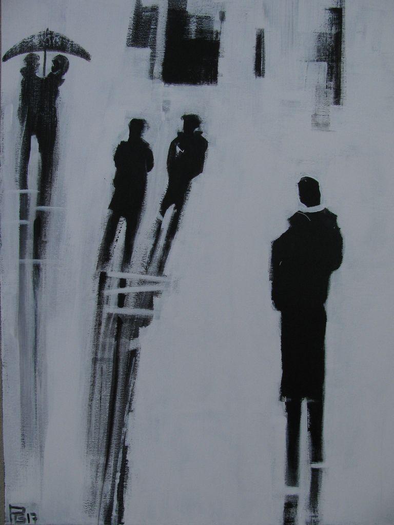 Street Life ( acrylique 70X90)