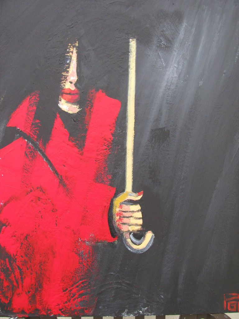Lady in Red ( acrylique 90X70)