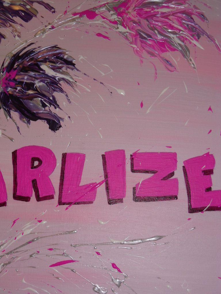 Tableau prénom &quot&#x3B;Charlize&quot&#x3B;