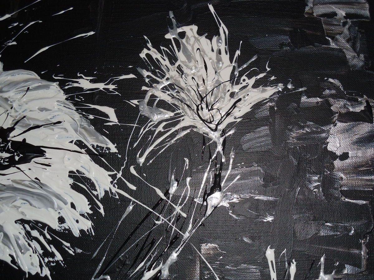 Tableau abstrait &quot&#x3B;Fiori Bianchi&quot&#x3B;