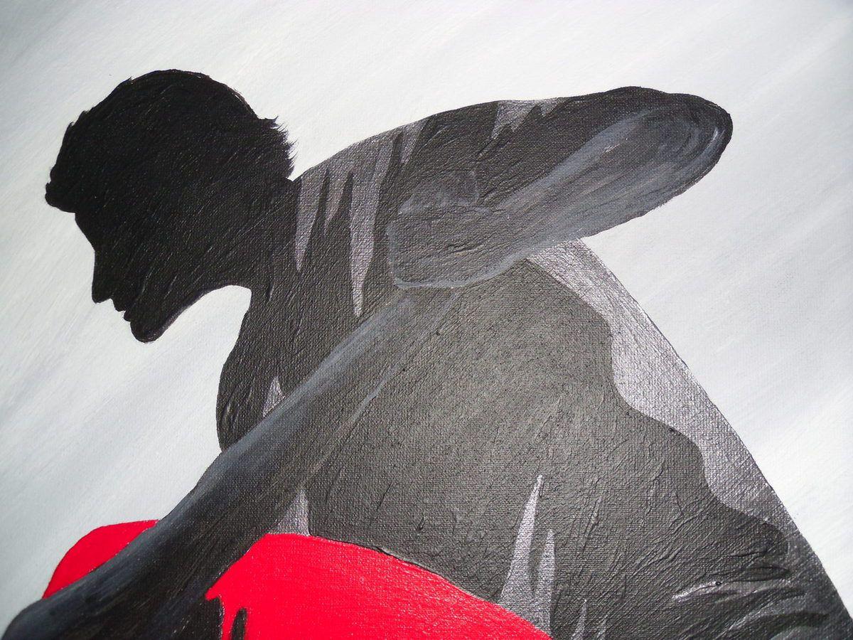 Tableau contemporain &quot&#x3B;Salsa&quot&#x3B;