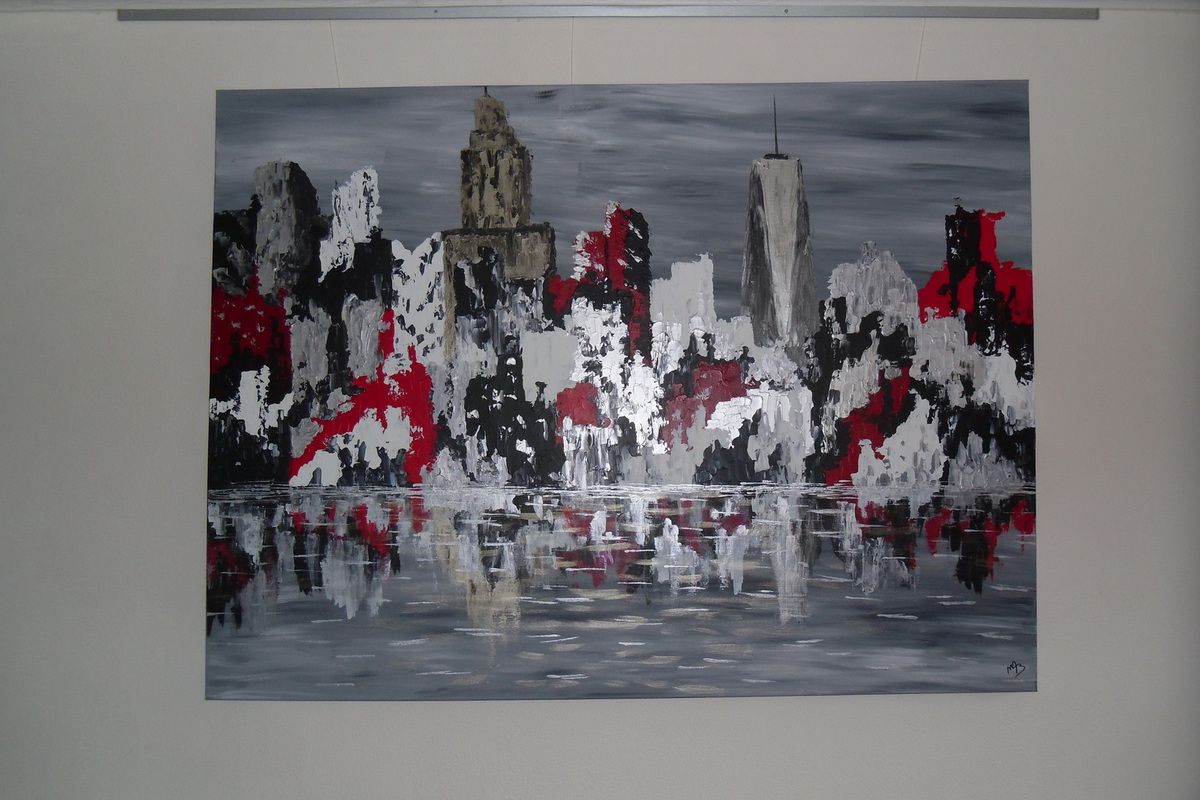 Tableau abstrait &quot&#x3B;Skyline of New-York&quot&#x3B;