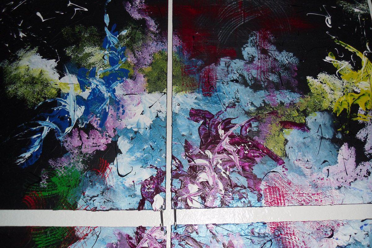 Tableau abstrait &quot&#x3B;Les Couleurs du Bonheur&quot&#x3B;