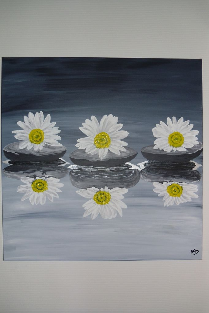 Tableau contemporain &quot&#x3B;Reflets de Printemps&quot&#x3B;