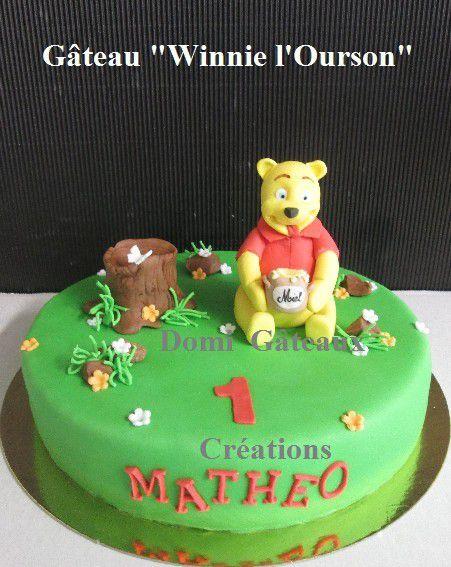 Gâteaux &quot&#x3B;Winnie l'Ourson&quot&#x3B; et &quot&#x3B;Bourriquet&quot&#x3B; en Pâte à Sucre