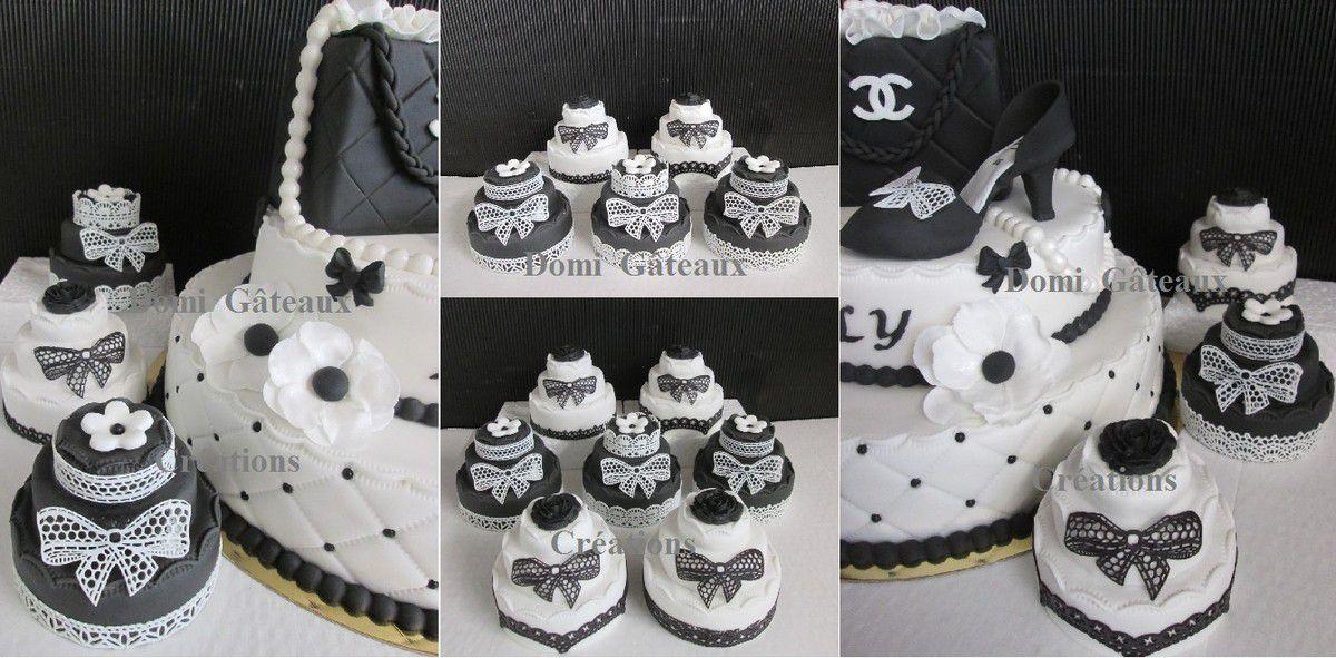 Gâteau &quot&#x3B;Chanel&quot&#x3B; en Pâte à Sucre