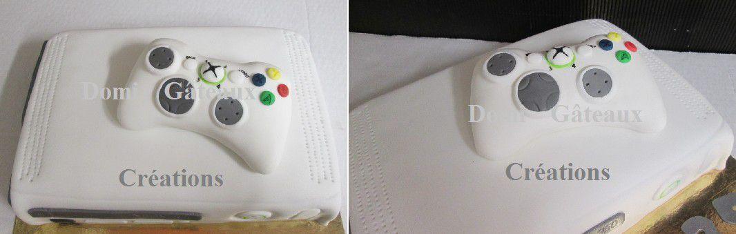 Gâteau &quot&#x3B;Xbox 360&quot&#x3B; 3D en Pâte à Sucre
