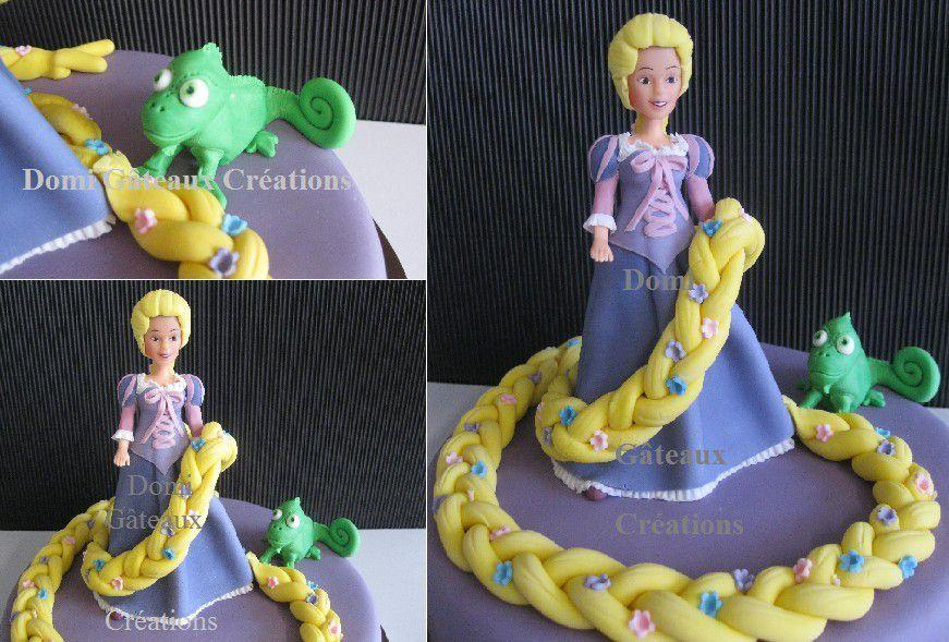 Gâteau Raiponce en Pâte à sucre