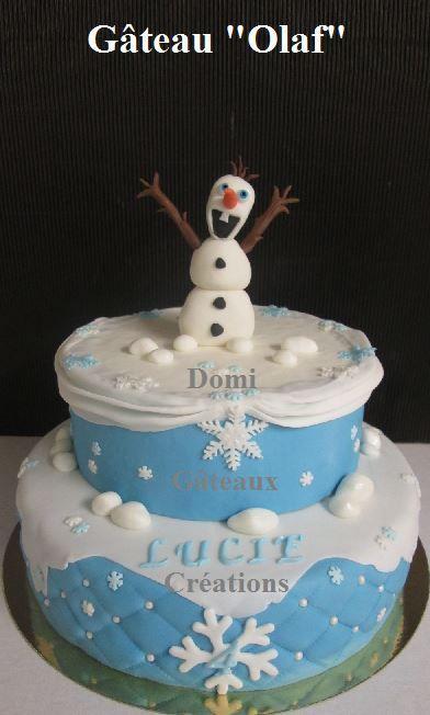 Gâteau &quot&#x3B;Olaf&quot&#x3B; en Pâte à Sucre