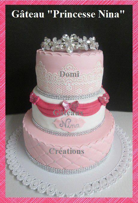Gâteau de &quot&#x3B;Princesse Nina&quot&#x3B; en Pâte à Sucre ...