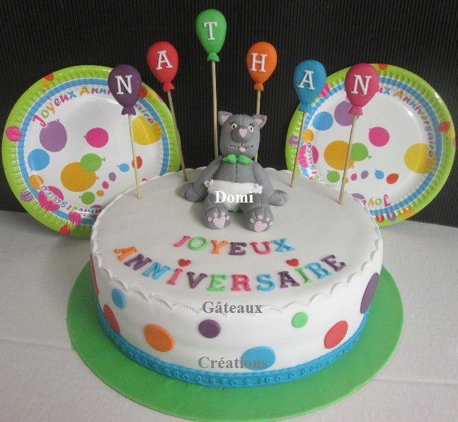 Gâteau &quot&#x3B;Nounours&quot&#x3B; en Pâte à sucre ...