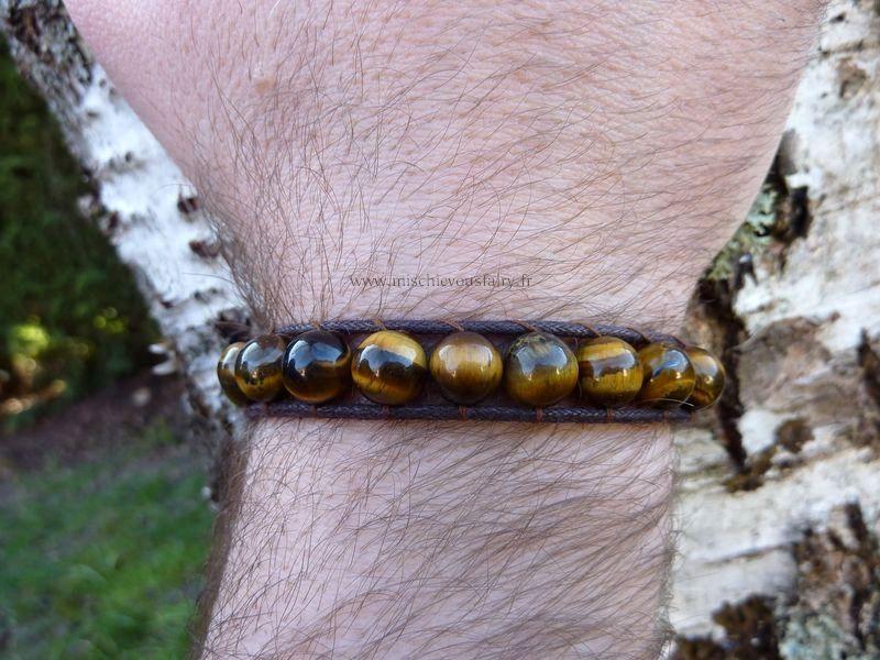 [Bijoux] Bracelet wrap oeil de tigre (pour homme !)