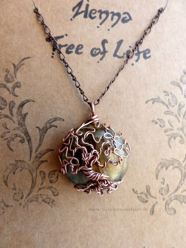 Tree of Life - Labradorite Henna