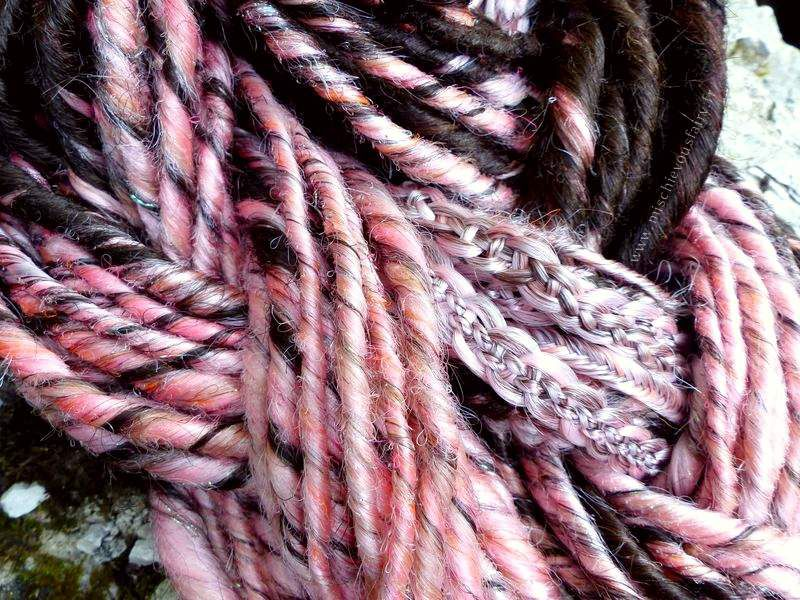 L'ombré hair dreadé rose pastel de Lydie