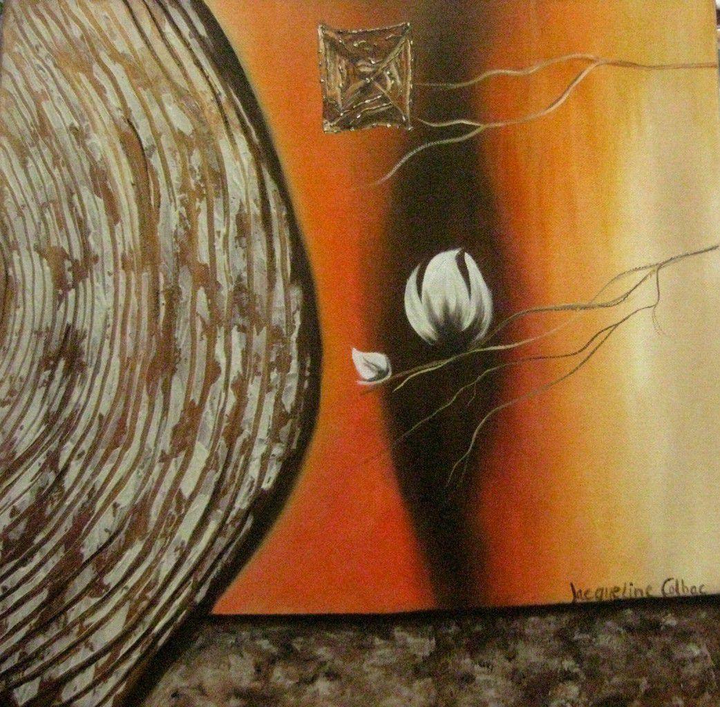 Ma dernière peinture à l'huile avec de la matière. Une petite toile avant les vacances, bon c'est sûr je ne me suis pas cassée la tête !!