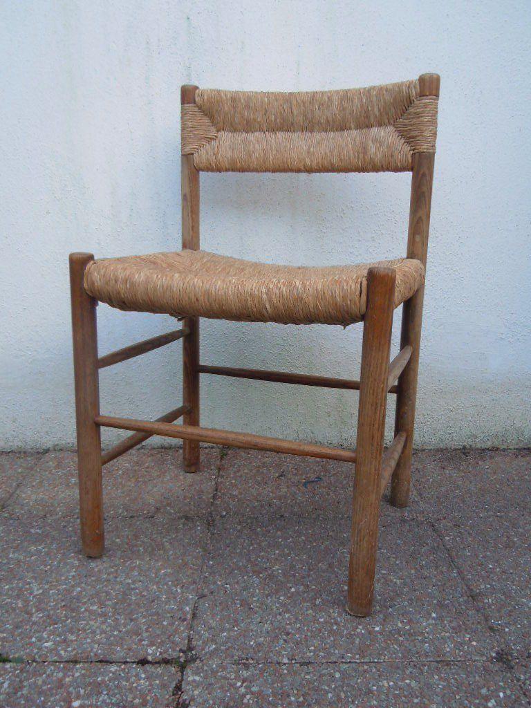 charlotte perriand s rie de 6 chaises dordogne dition maison sentou ann es 1955 occasions56. Black Bedroom Furniture Sets. Home Design Ideas