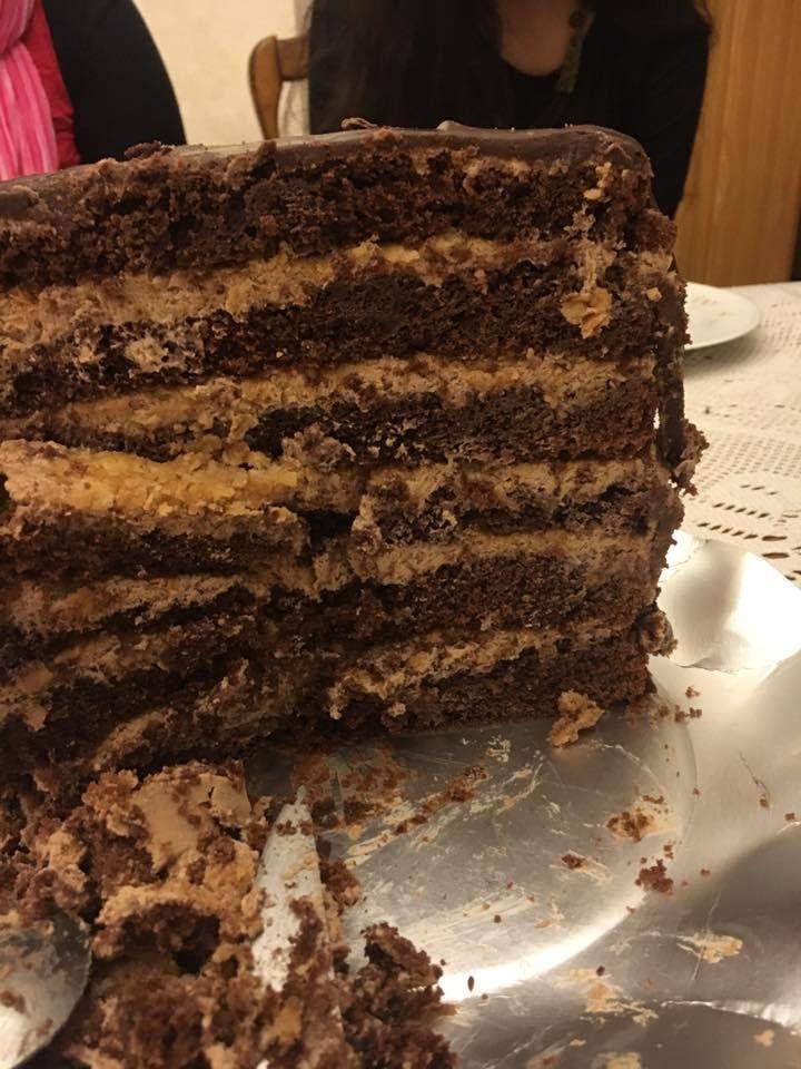 l'intérieur du layer cake