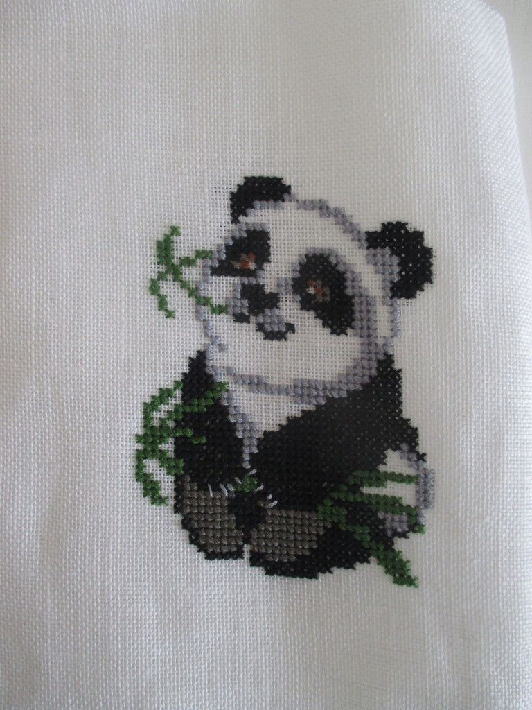 point de croix panda