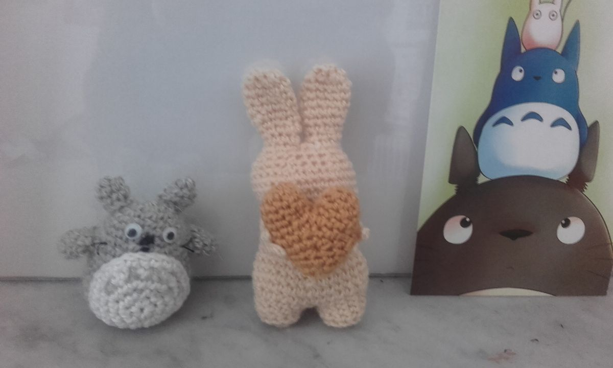 Crochet : petit lapin coeur