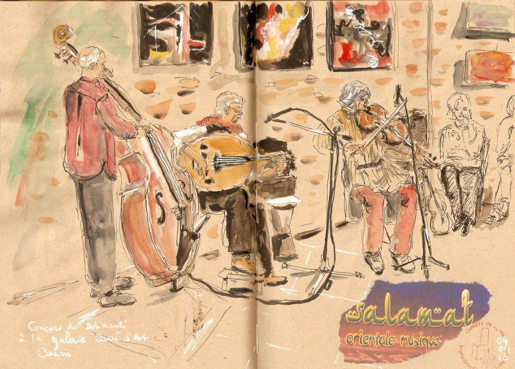 trio Salamat dans la galerie d'art
