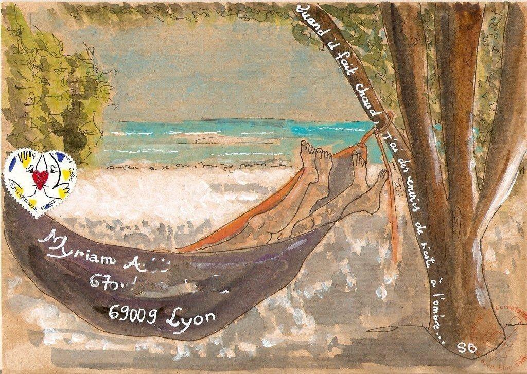 Mon mail art &quot&#x3B;chaud&quot&#x3B;...
