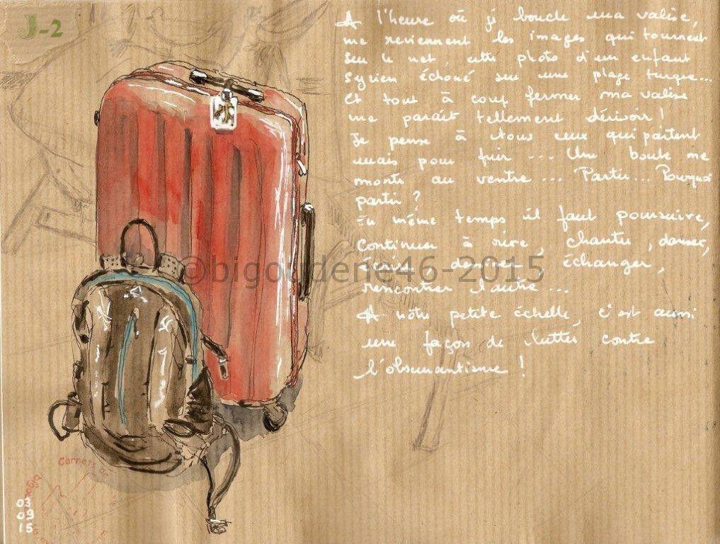 Boucler les bagages...