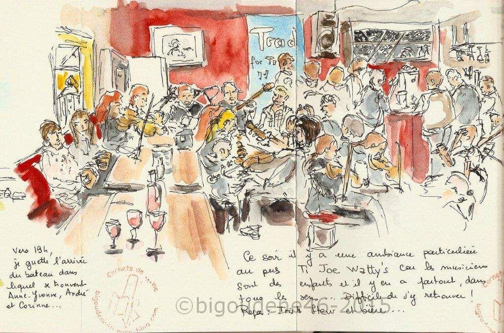 au pub Ti Joe Watty's d'Inishmore 12.09.15