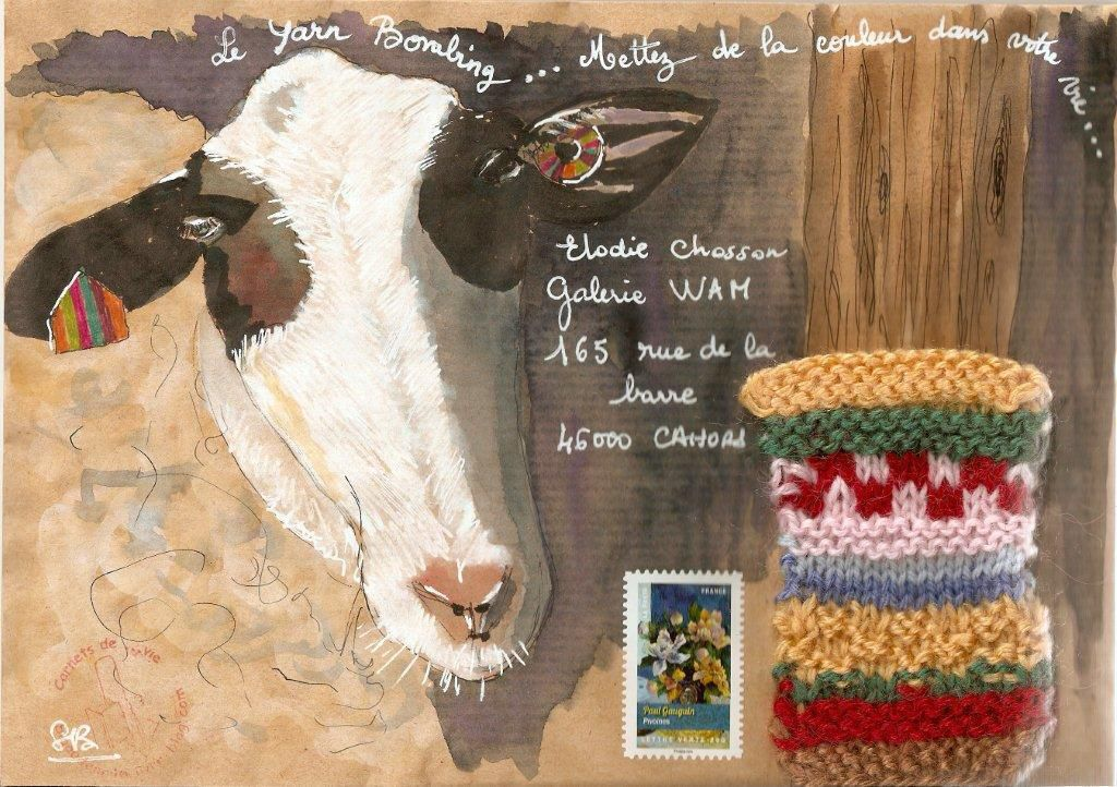 mail art pour Elodie
