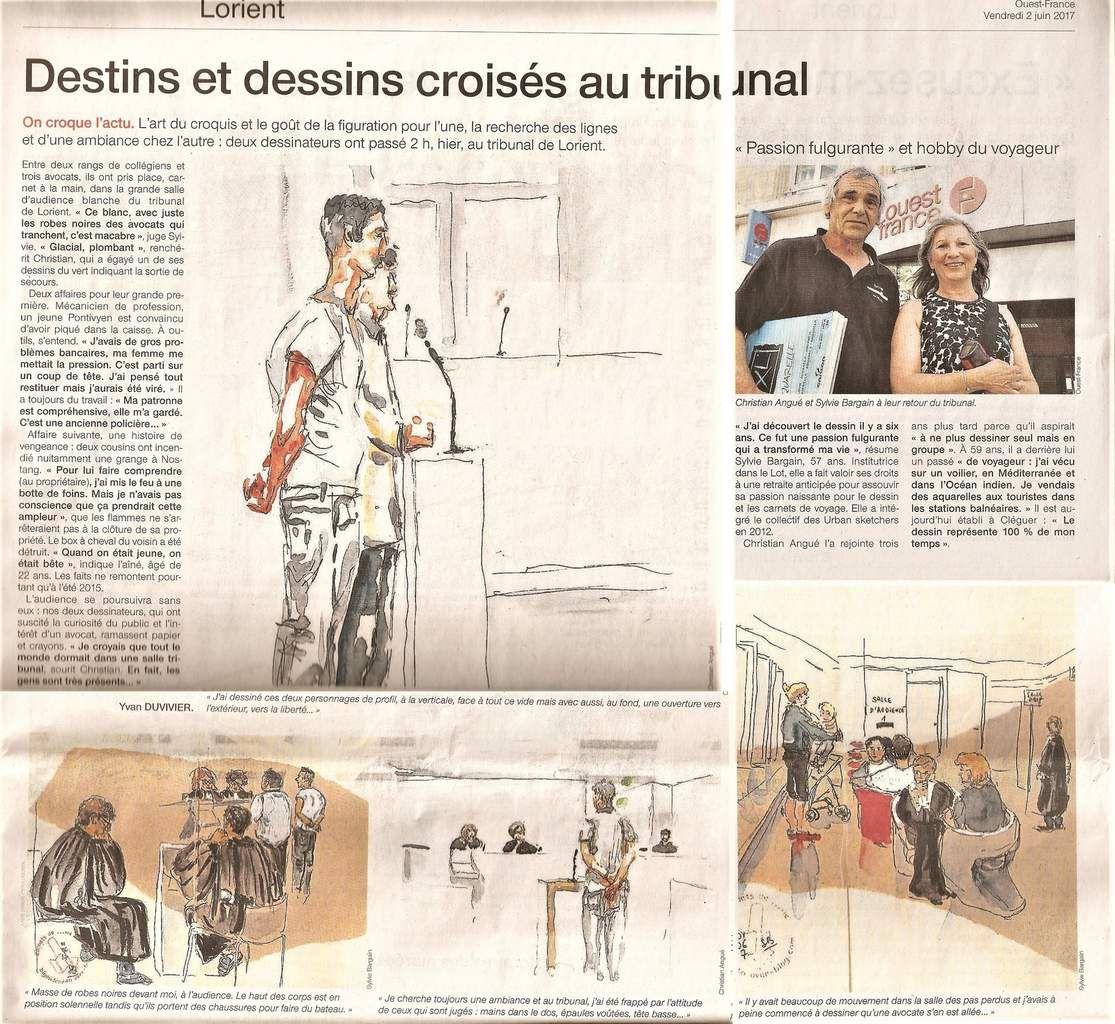 L'article dans Ouest-France fait presque toute la page, je l'ai numérisé en plusieurs morceaux !