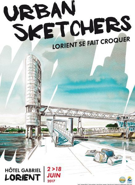 2 au 25 juin 17  à Lorient - exposition collective urban sketchers