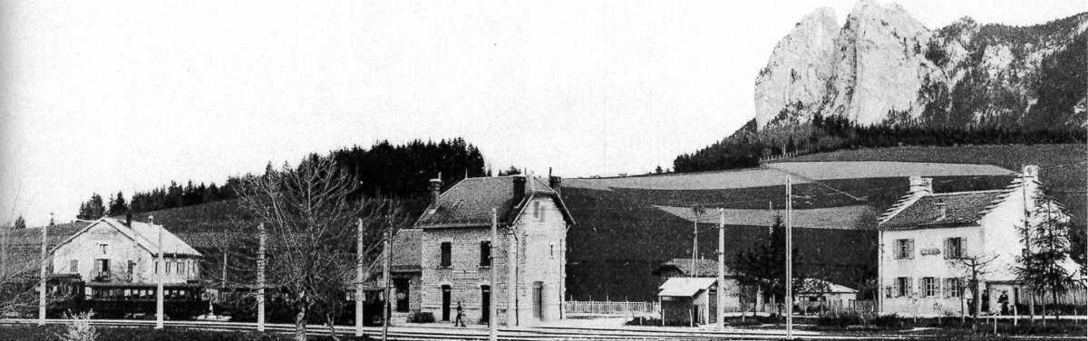 St Nizier , les 3 pucelles et sa gare