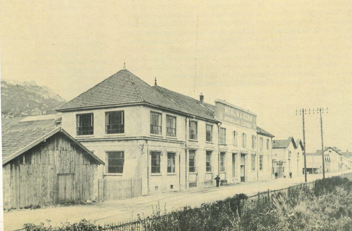 Les début de MG (Merlin Gérin), c'était dans le quartier au début du XXème siècle à l'époque où ce n'était qu'une PME.