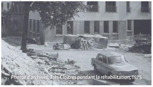 1975: rénovation en cours
