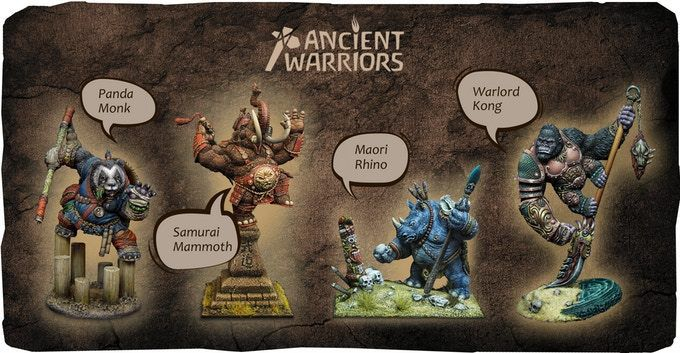 Ancient Warriors - Les figurines Cartoon Miniatures