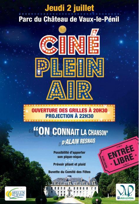 Ciné Plein Air exceptionnel le jeudi 2 juillet à Vaux le Pénil