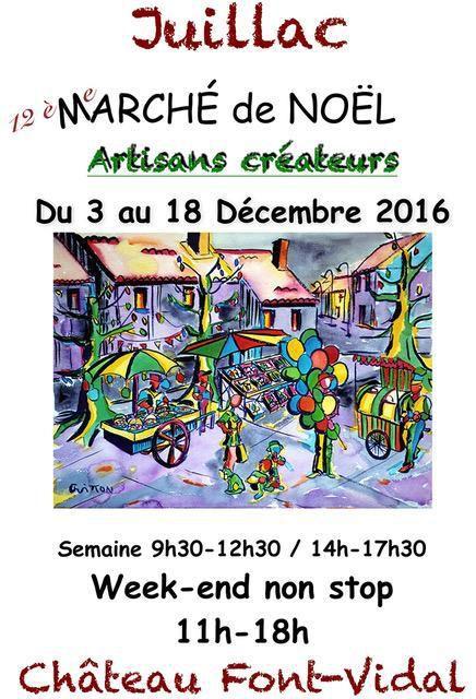 12ème Marché de Noël au Château Font Vidal