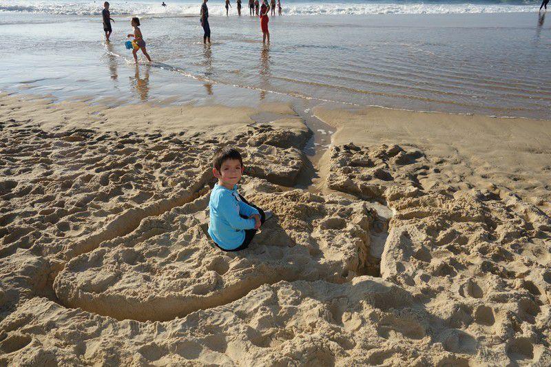 En octobre , vive les sorties à la plage !