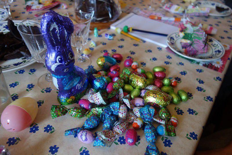 A Pâques, temps pourri mais super bonne récolte !