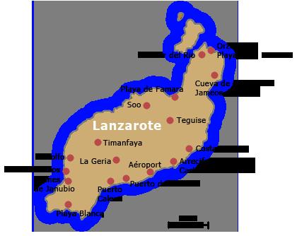 De retour de Lanzarote, une des îles des Canaries.