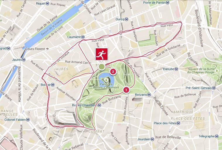 Les 10 km du 19ème à Paris.