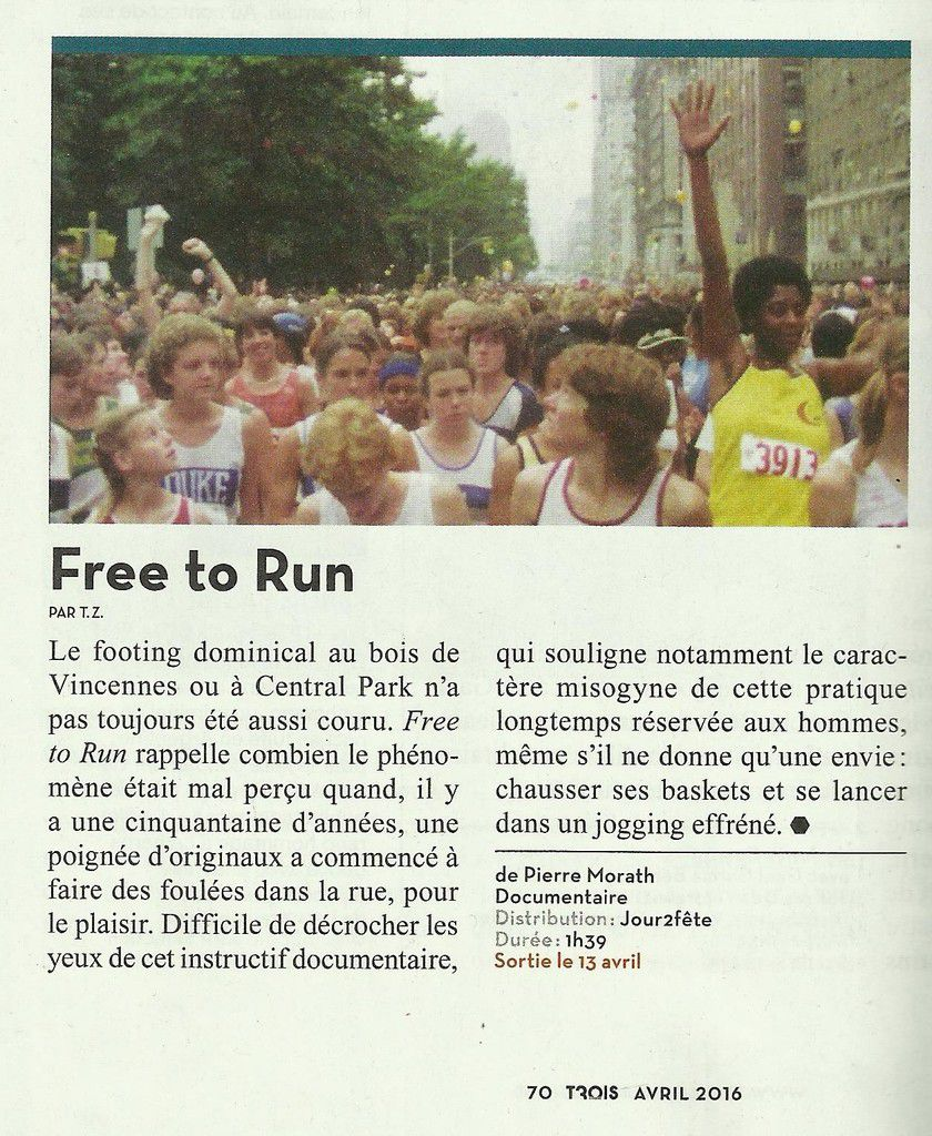 FREE TO RUN, un film de Pierre Morath