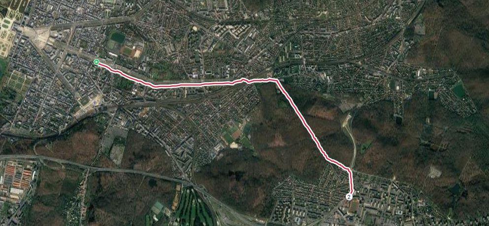Trace GPS 58' et 4,35 km D+110m.